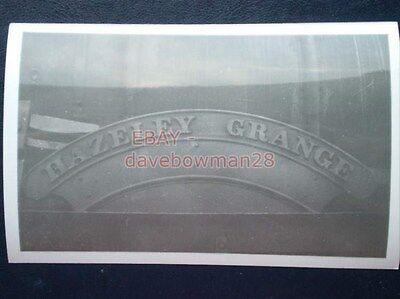 PHOTO  GWR NAMEPLATE HAZELEY GRANGE