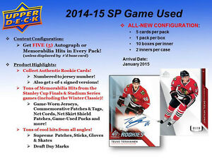 2014-15 Upper Deck SP Game Used Hockey Cards Hobby Box Kitchener / Waterloo Kitchener Area image 2