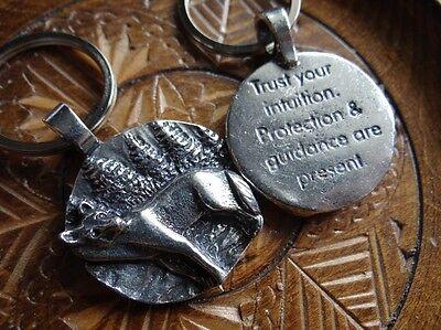 Wolf Totem Spirit Keychain Wiccan Pagan Jewelry Keyring