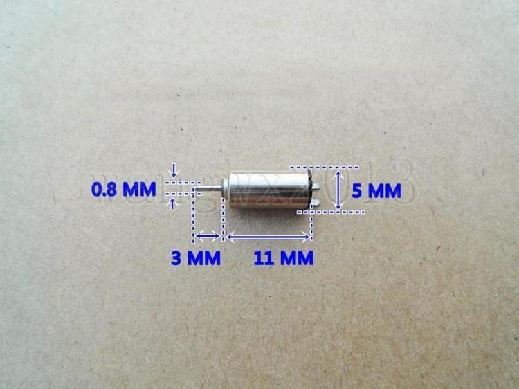 5pcs New 5x11mm DC3V 48500RPM High Speed Coreless DC Motor for DIY Toy Parts