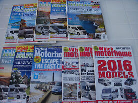 Motorhome magazines - from 2015 to 2016 good condition