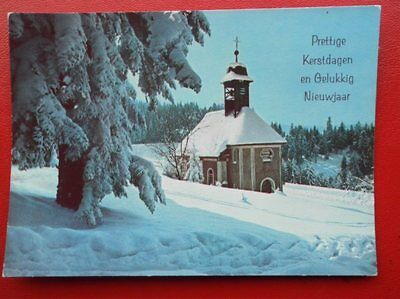 POSTCARD RELIGIOUS CHURCH COVERED IN SNOW