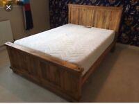 Super king size solid mantis light oak bed