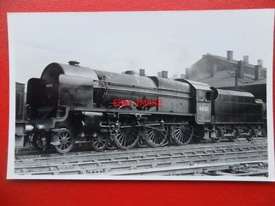 PHOTO  LMS ROYAL SCOT 4-6-0 46151 THE ROYAL HORSE GUARDSMAN AT CREWE NORTH 7/49