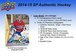2014-15 Upper Deck SP Authentic Hockey Cards Hobby Box Kitchener / Waterloo Kitchener Area image 4