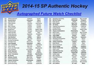 2014-15 Upper Deck SP Authentic Hockey Cards Hobby Box Kitchener / Waterloo Kitchener Area image 7