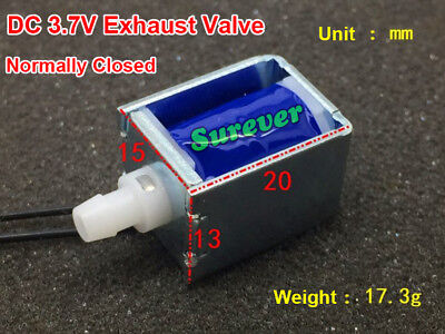 Dc 3v 3.7v 5v 6v Mini Exhaust Solenoid Valve Normally Closed Nc For Breast Pump