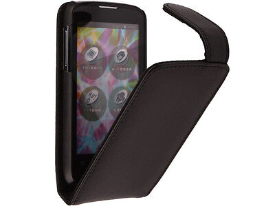 New Genuine Leather Flip Cover Case for ZTE Blade 3 Blade III V889m on Rummage