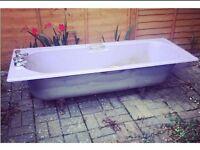 Cast iron purple bath