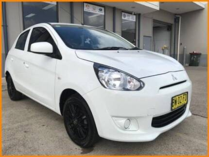 FROM $44 P/WEEK ON FINANCE* 2013 MITSUBISHI MIRAGE 5D ES LA