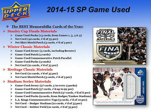 2014-15 Upper Deck SP Game Used Hockey Cards Hobby Box Kitchener / Waterloo Kitchener Area image 3