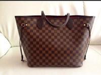 Louis Vuitton neverfull mm brown bag