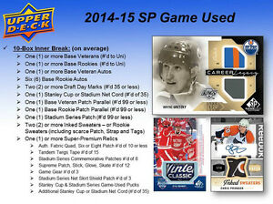 2014-15 Upper Deck SP Game Used Hockey Cards Hobby Box Kitchener / Waterloo Kitchener Area image 6
