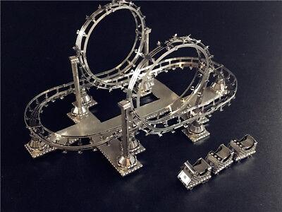 Roller Coaster - Laser Cut Miniature Metal Model Kit