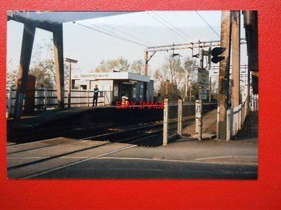 PHOTO  HERTS - SAWBRIDGEWORTH RAILWAY STATION 1987