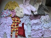 MASSIVE Bundle Designer Baby Girl Clothes Coats Outfits 0-6 Polarn O. Pyret Duns Sweden John Lewis,m