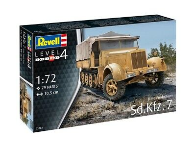 REVELL 03263 - 1/72 WWII Dt. SD.KFZ 7 (LATE PRODUCTION) - NEU