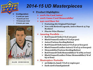 2014-15 Upper Deck MasterPieces Hockey Trading Cards Hobby Box Kitchener / Waterloo Kitchener Area image 2