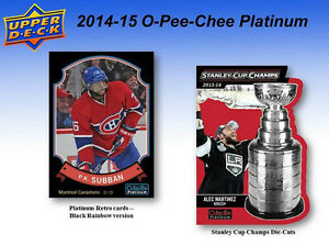 2014-15 Upper Deck OPC Platinum Hockey Cards Hobby Box Kitchener / Waterloo Kitchener Area image 5