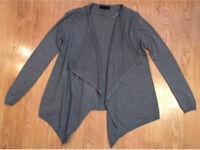 Grey Waterfall Cardigan Size 6/8