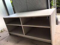 Grey storage table