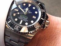Rolex Deepsea Blue Edition with full glidelock bracelet