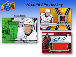 2014-15 Upper Deck SPx Hockey Cards Hobby Box Kitchener / Waterloo Kitchener Area image 5