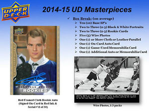 2014-15 Upper Deck MasterPieces Hockey Trading Cards Hobby Box Kitchener / Waterloo Kitchener Area image 4