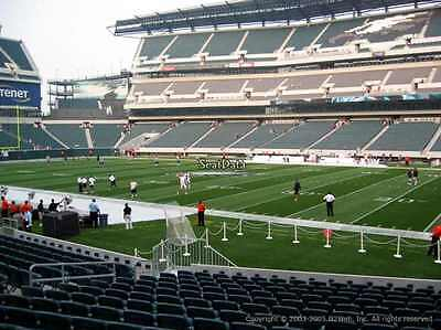 2 PHILADELPHIA EAGLES SBL PSL SEASON TICKETS RIGHTS sec 104 row 8 EAGLES SIDE