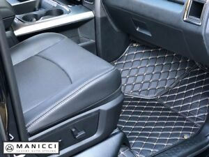 Premium Custom Fitted Luxury Leather Car Mats by Manicci