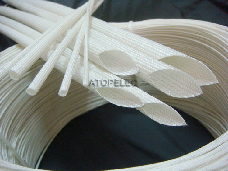 20mm Braided Fiber Glass Tube High-Temperature Sleeving Wire Sheath 600℃ 500V