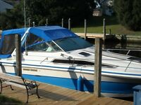 sea ray sundancer 25' comes with older trailer. runs great. very