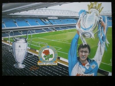 POSTCARD 1995 BLACKBURN ROVERS WINNING PREMIERSHIP LEAGUE