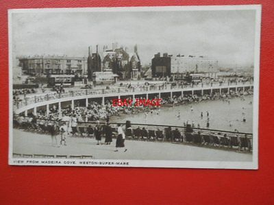 POSTCARD SOMERSET WESTON SUPER MARE VIEW FROM MADEIRA COVE