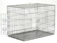 Great condition Medium Pet Dog Puppy Cat Folding Cage Crate Kennel with Double Door