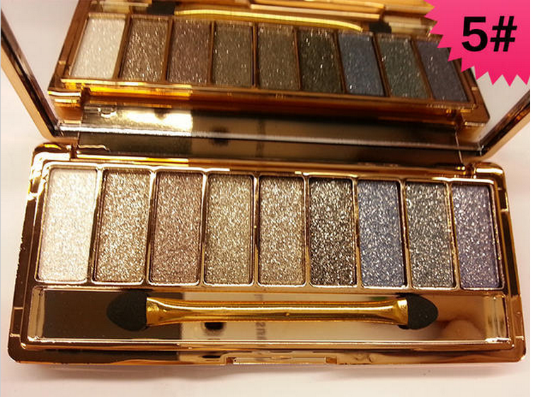 9 Colour Glitter Shimmer Eyeshadow Palette Eye Shadow Diamond Makeup Set UK SELL