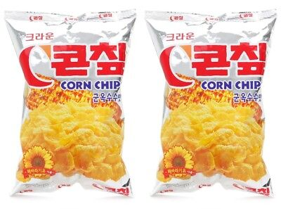 Korean Snack Crown CORN CHIPS 148g x 2Pack Sweet Delicious Grilled Corn flavor