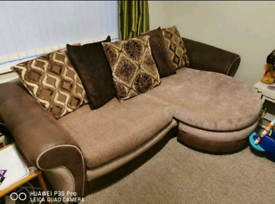 Brown DFS 3 Seater + Swivel Chair