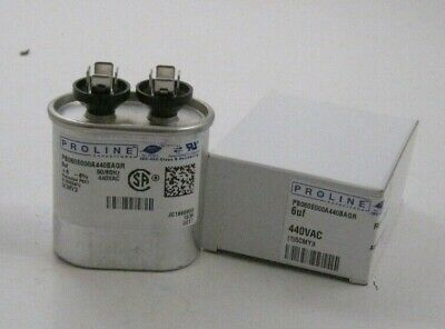 PROLINE 6uF MFD 440VAC Motor Run Capacitor - Oval - (2-5/8