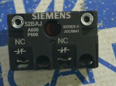 Siemens 52baj Ser. H Accessory Contact Block Kit New