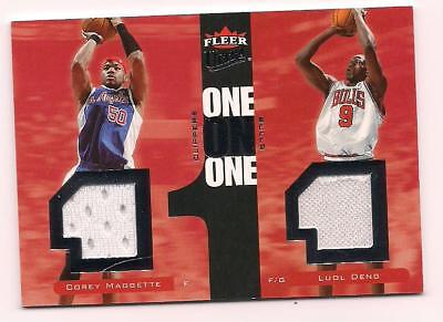 5cfb76fb6 2007 8 Fleer Ultra Dual Jersey Corey Maggette Clippers Luol Deng Bulls  66  68