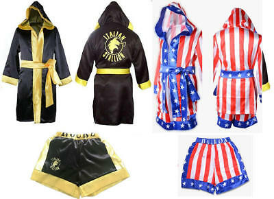 Rocky Balboa Movie children Boxing Costume Robe and Shorts American - Boys Boxing Robe