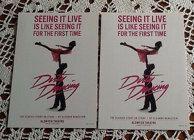 DIRTY DANCING 2 x  POSTCARDS   -  Collectors Items - New