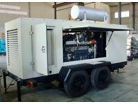 235kva Hyundai Genset A-H260ST-4 Diesel Generators Trailer Mounted