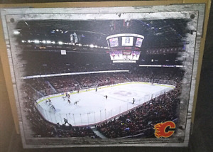 Calgary Flames NHL Canvas Picture 20 x 16