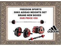 50KG ADIDAS VINYL WEIGHTS SET BRAND NEW BOXED
