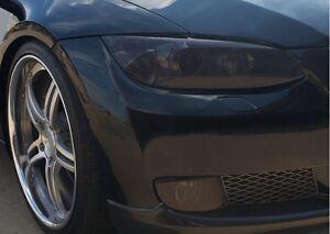 07-09-BMW-E92-E93-3-SERIES-COUPE-SMOKE-HEAD-LIGHT-TINT-COVER-SMOKED-OVERLAYS