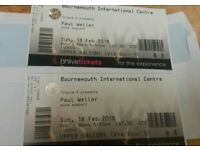 Paul weller tickets x2 Sunday 18th £70 must collect today.