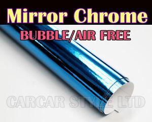 Rouleau autocollant en vinyle en couleur bleu chrom for Rouleau autocollant miroir