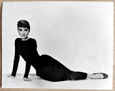 1 orginal altes Silber Gelantine SW Kino Film Foto Handabzug Audrey Hepburn
